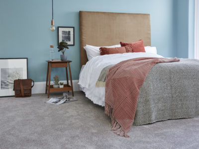 A bedroom with Primo Choice Zinc Partridge carpet