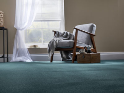 A living room carpeted with Ultima Twist - Amazon