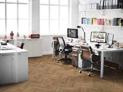 Office with Chateau Honeyoak flooring