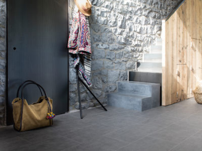 Hallway with Metropolis Studio Nellie Luxury Vinyl Floor